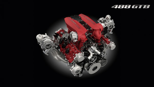 Ferrari 488 GTB - motore V8