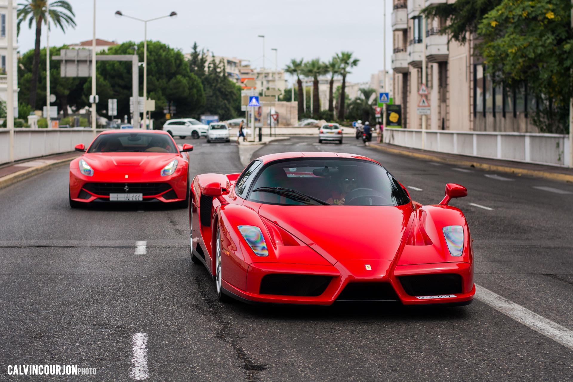 Ferrari Enzo, Ferrari F12 - face avant - Cote dAzur - 2015 - Calvin Courjon