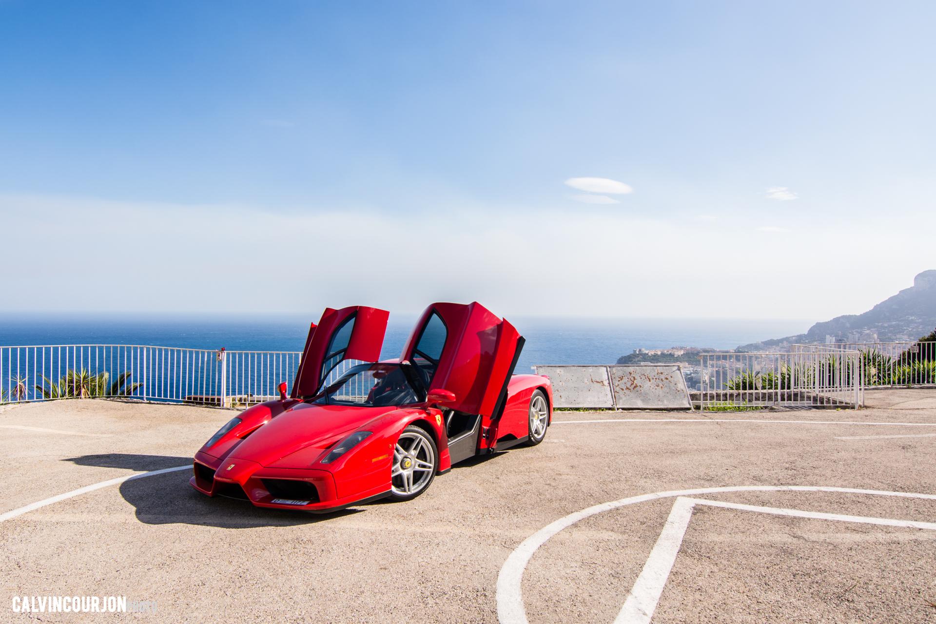 Ferrari Enzo - EPIC pose portes ouvertes - panorama - Cote dAzur - 2015 - Calvin Courjon