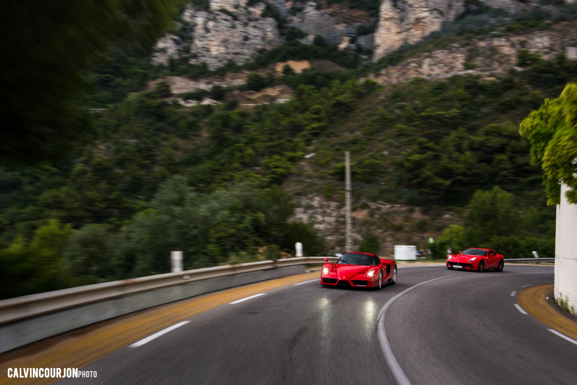 Ferrari Enzo, Ferrari F12 - sur route - Cote dAzur - 2015 - Calvin Courjon