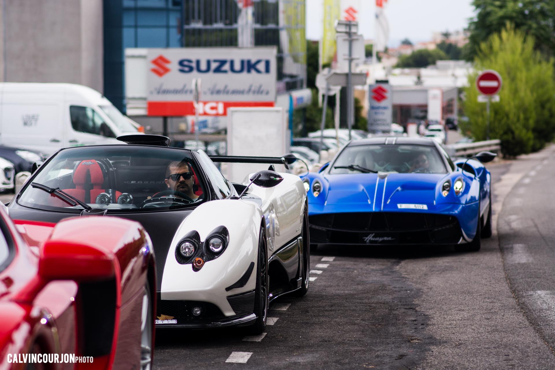 Pagani et Ferrari hypercars - en ville - Cote dAzur - 2015 - Calvin Courjon