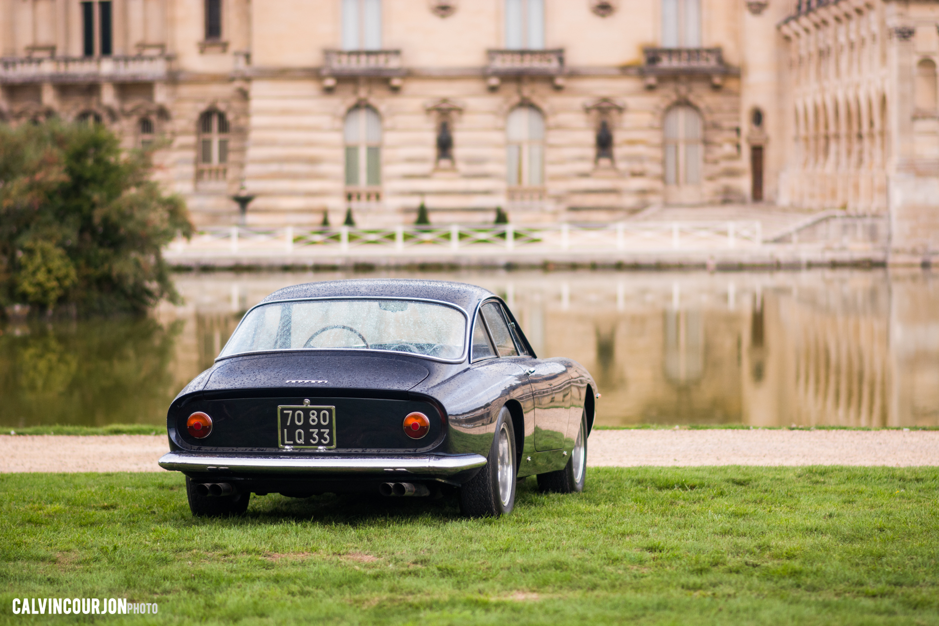 Ferrari admire le château - Chantilly 2015 – photo Calvin Courjon