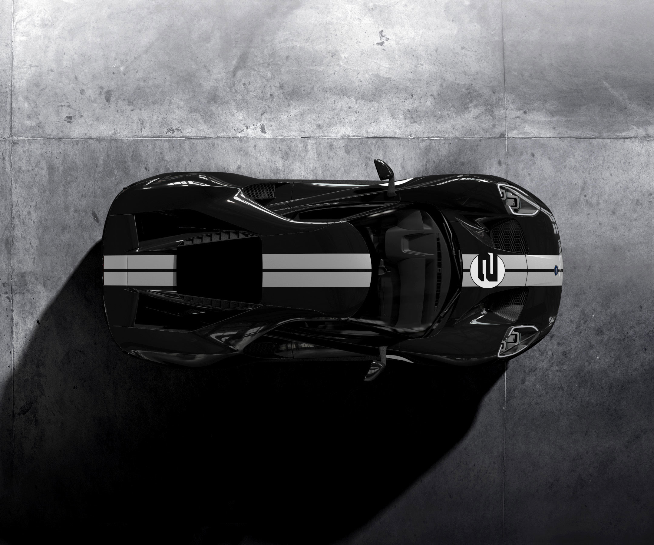 Ford GT 2016 - livery 1966 Heritage Edition - top / toit