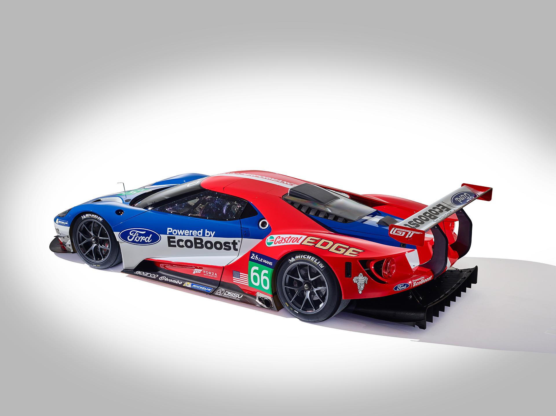 Ford GT LeMans Race Car 2016 - profil arrière / rear