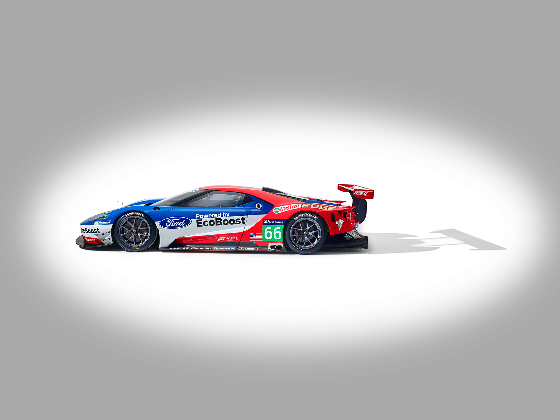 Ford GT LeMans Race Car 2016 - side-face / profil