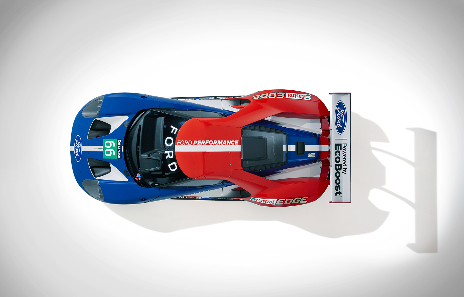 Ford GT LeMans Race Car 2016 - haut / top