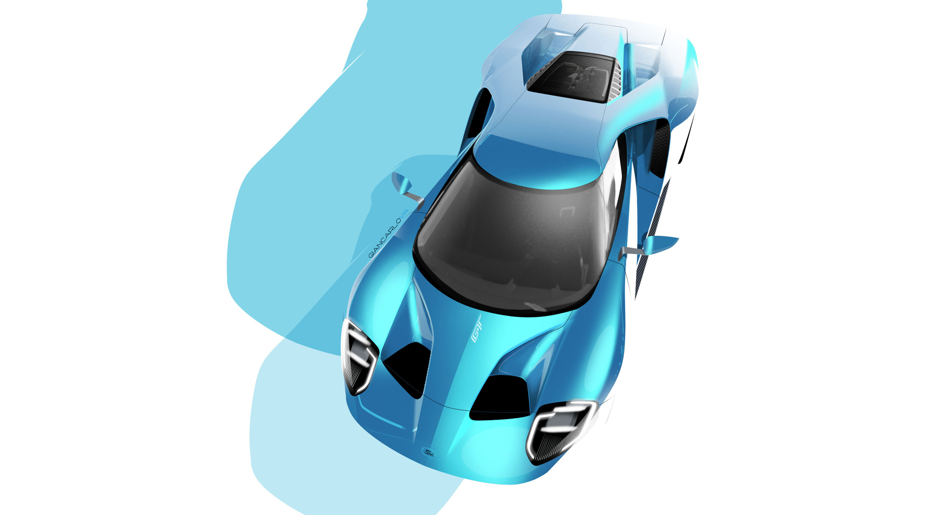 2016 All-New Ford GT - sketch exterieur - Ford