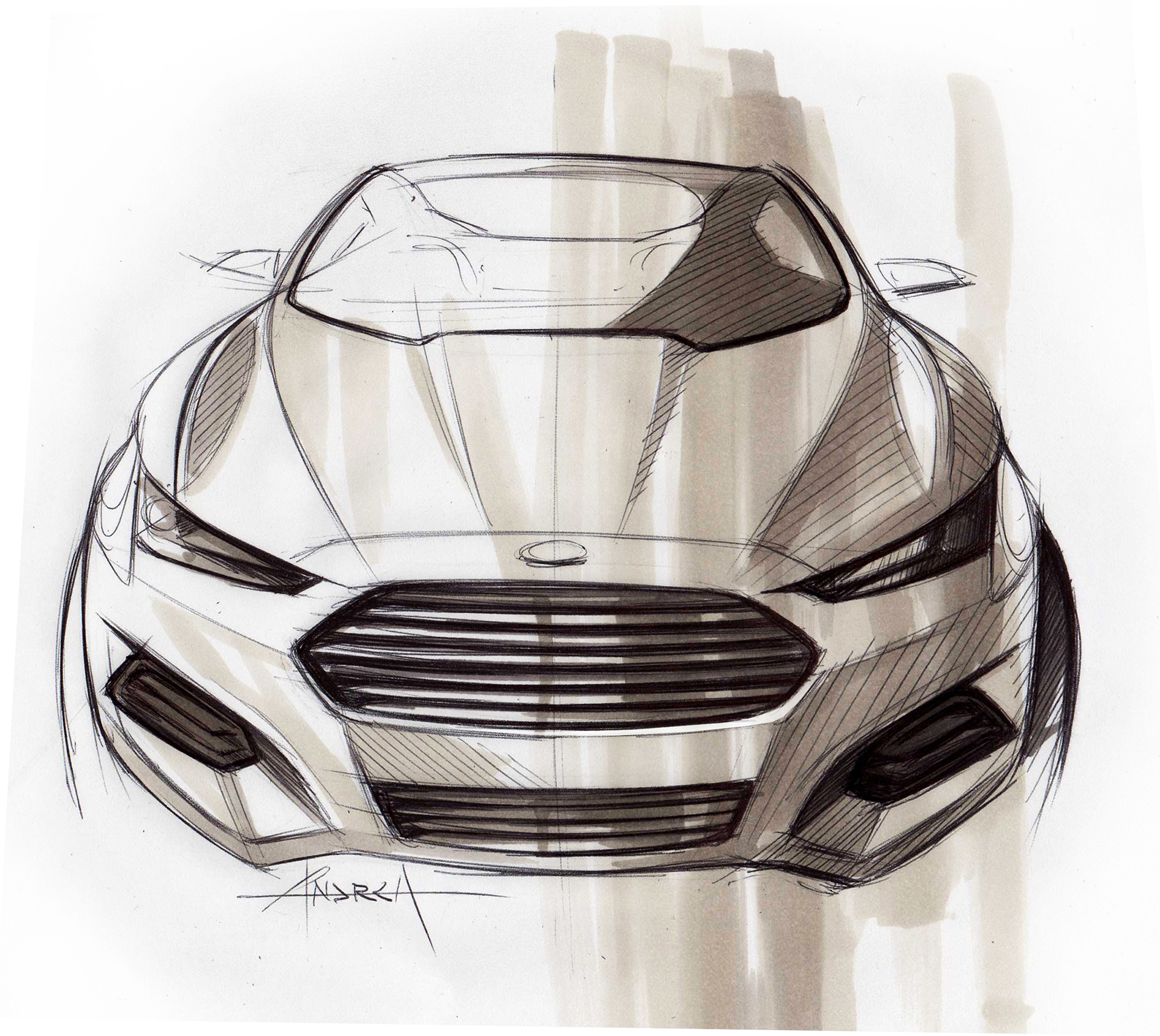 Ford Mondeo - sketch