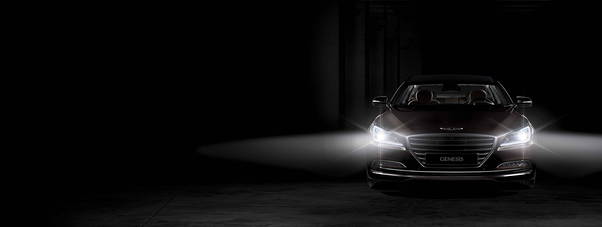Genesis G90 - 2016 - front light / feux avant