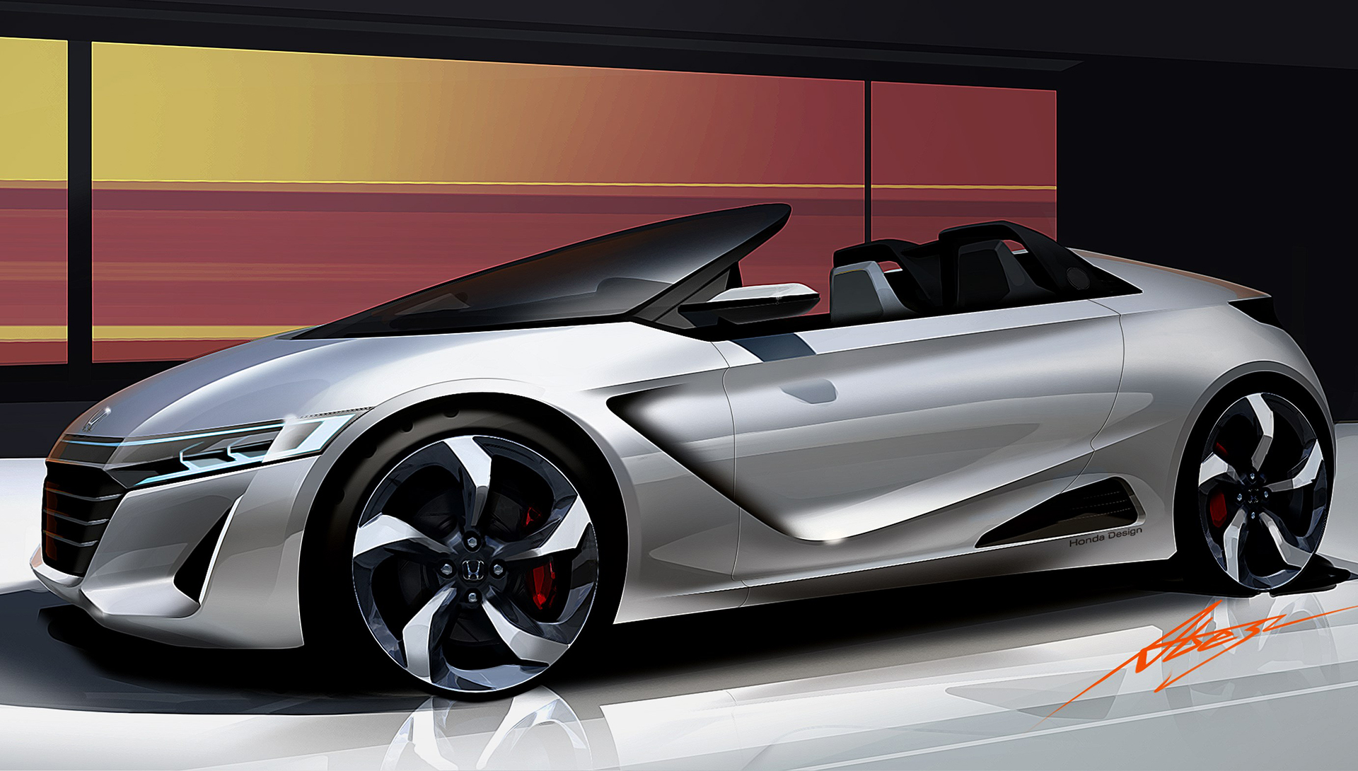 Honda S660 - sketch design - front / avant