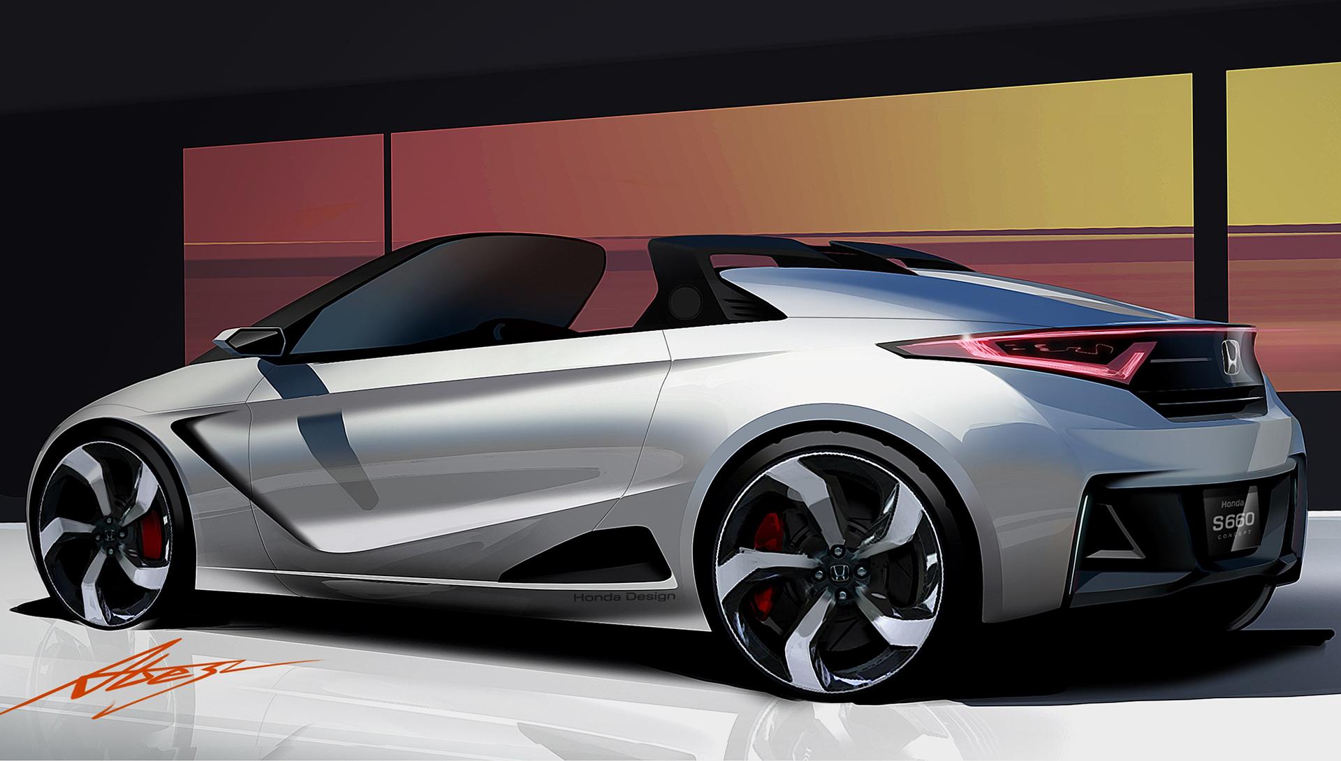 Honda S660 - sketch design - rear / arrière