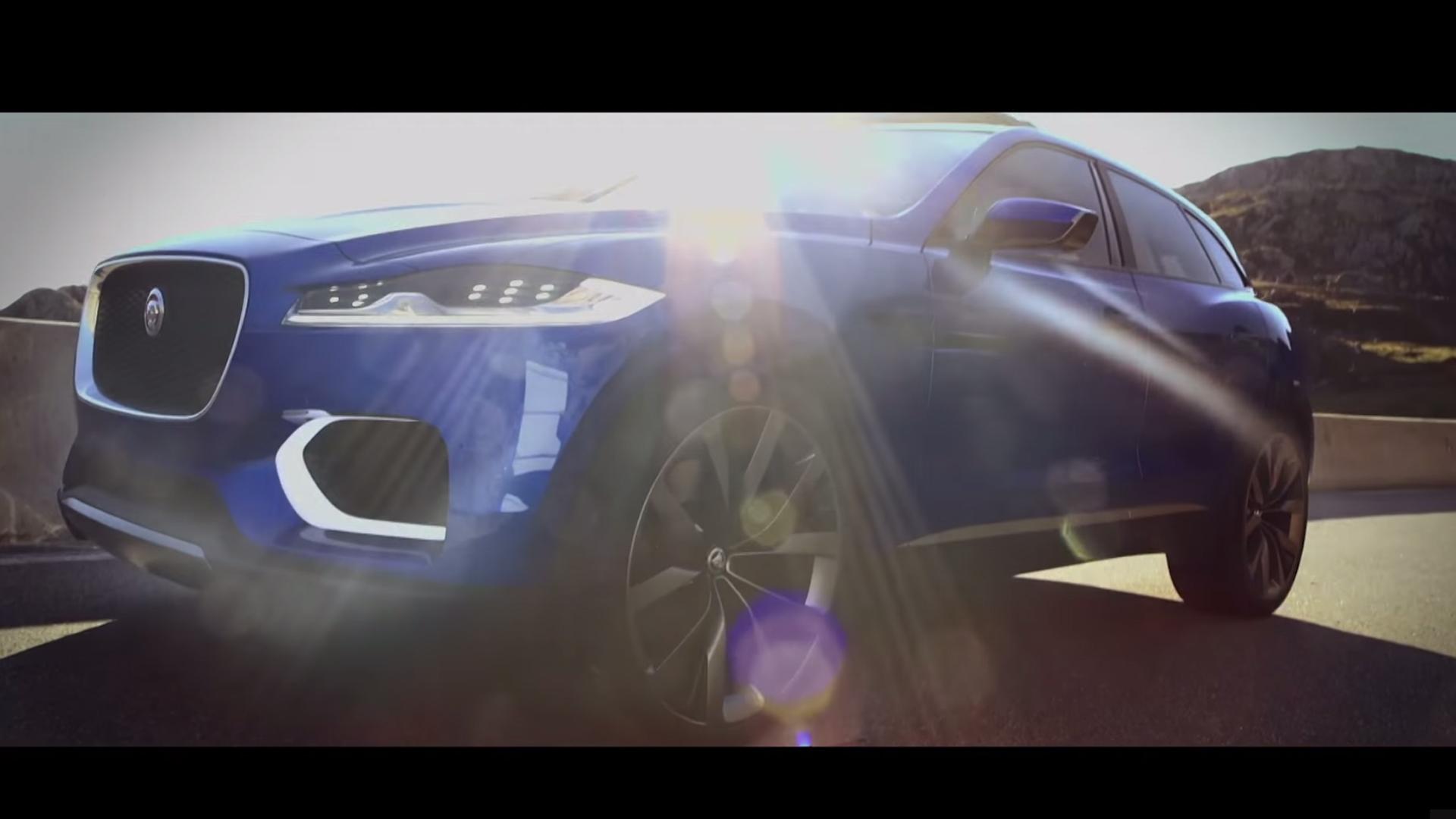 Jaguar F-PACE - profil avant / front side-face - teaser