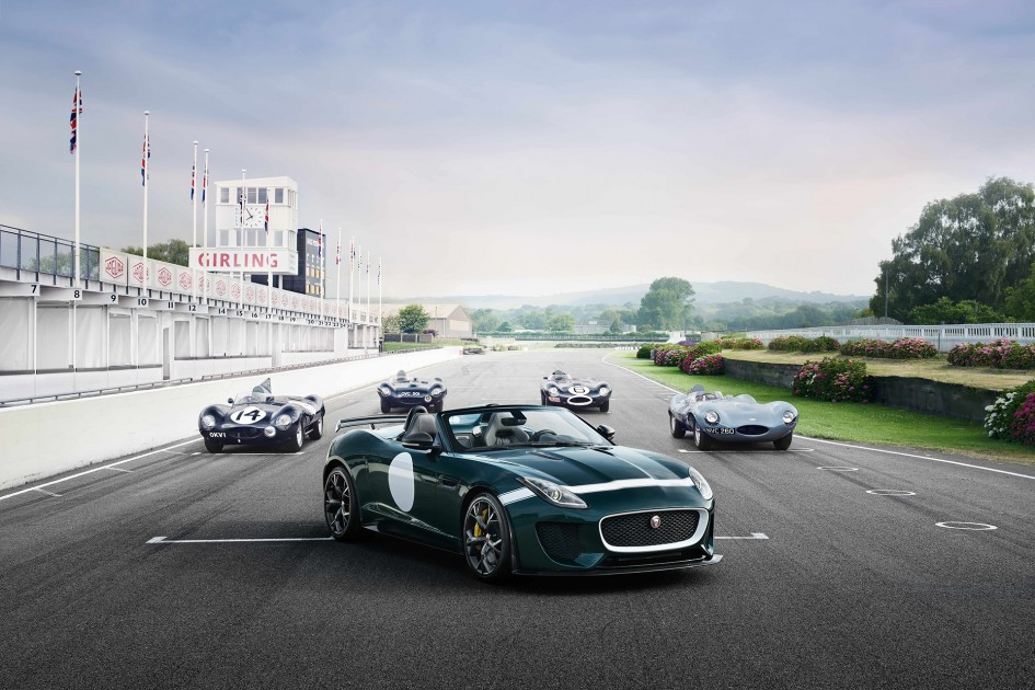 Jaguar F-TYPE Project 7 - Jaguar D-TYPE - on track