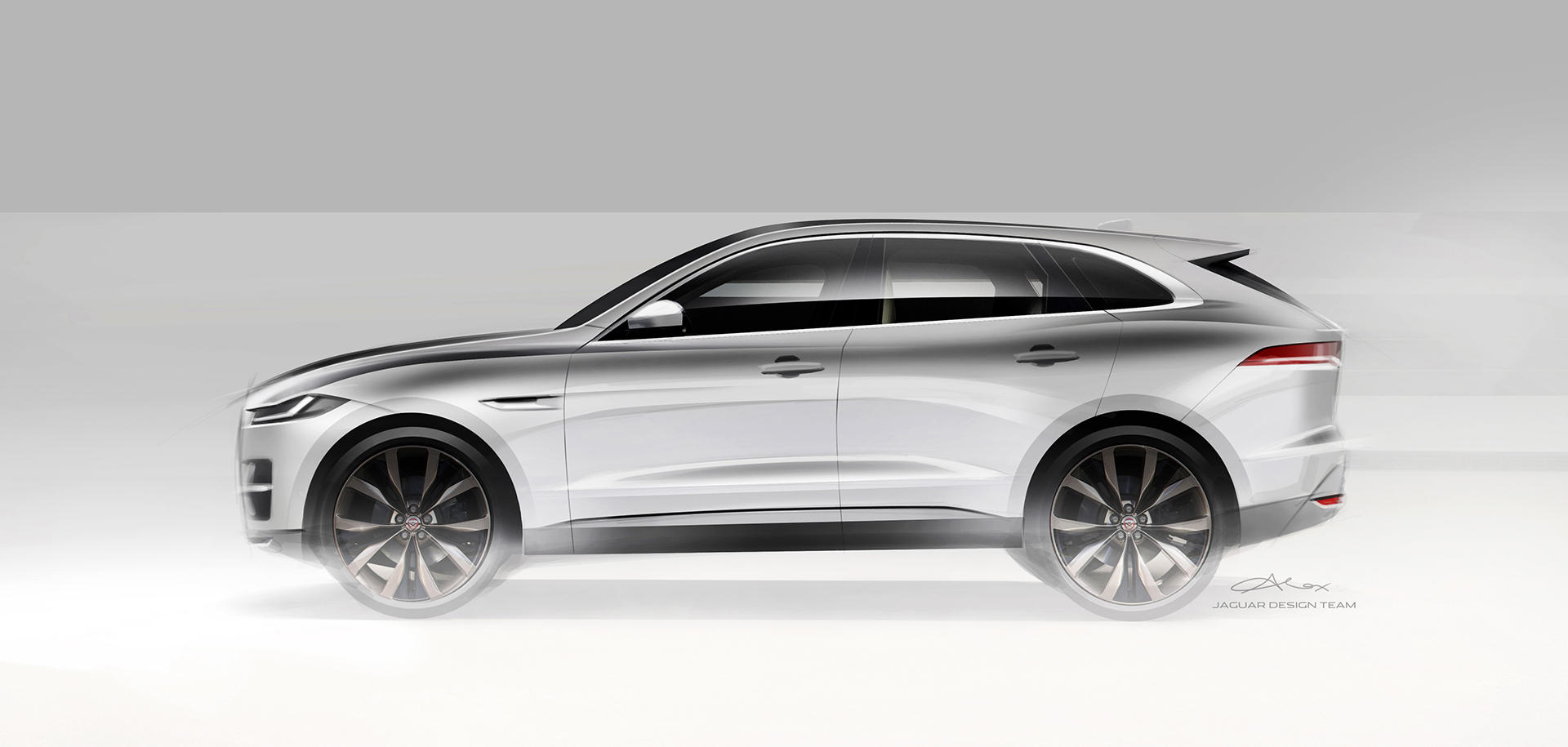 Jaguar F-PACE - design sketch