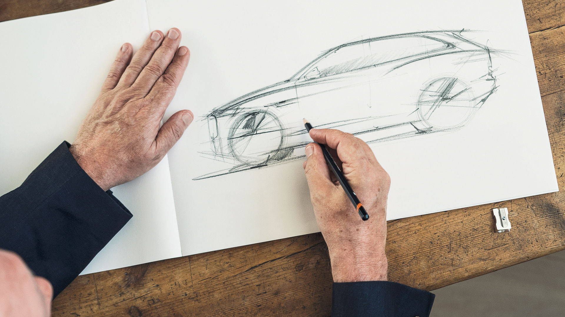 Jaguar F-PACE - sketch by Ian Callum