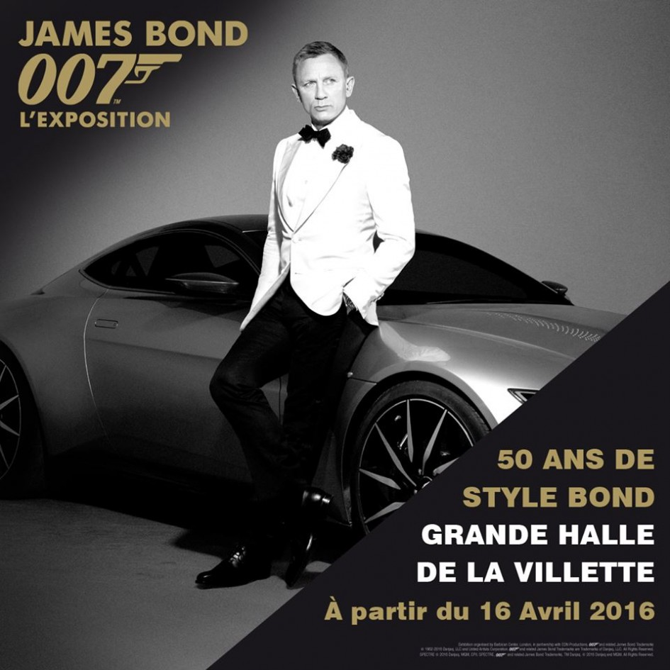 James Bond 007 - exposition - 2016 - Paris