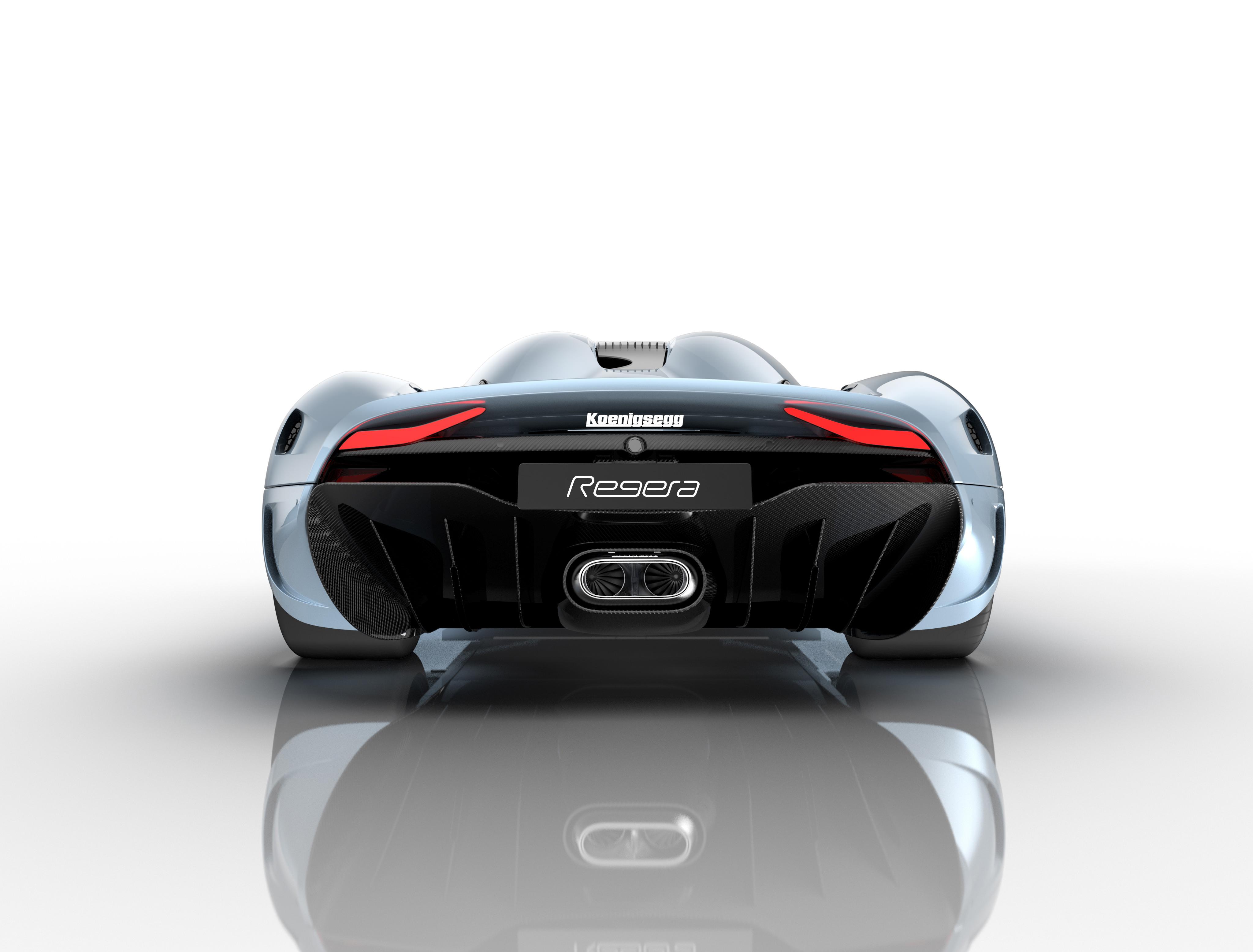 Koenigsegg Regera - face arrière