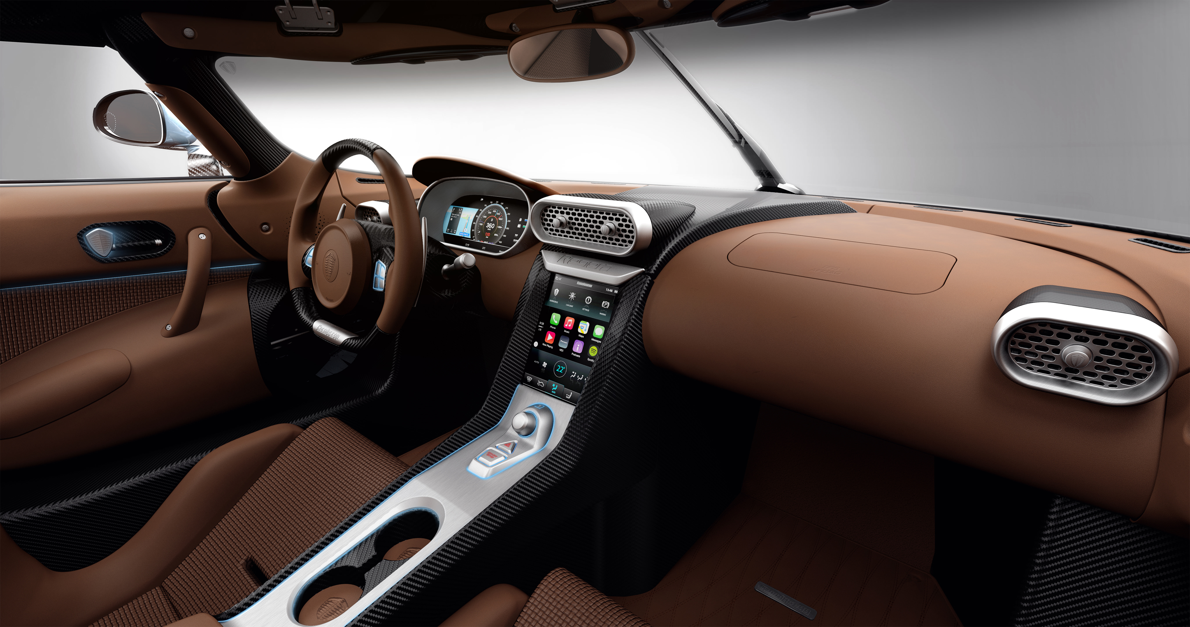 Koenigsegg Regera - intérieur