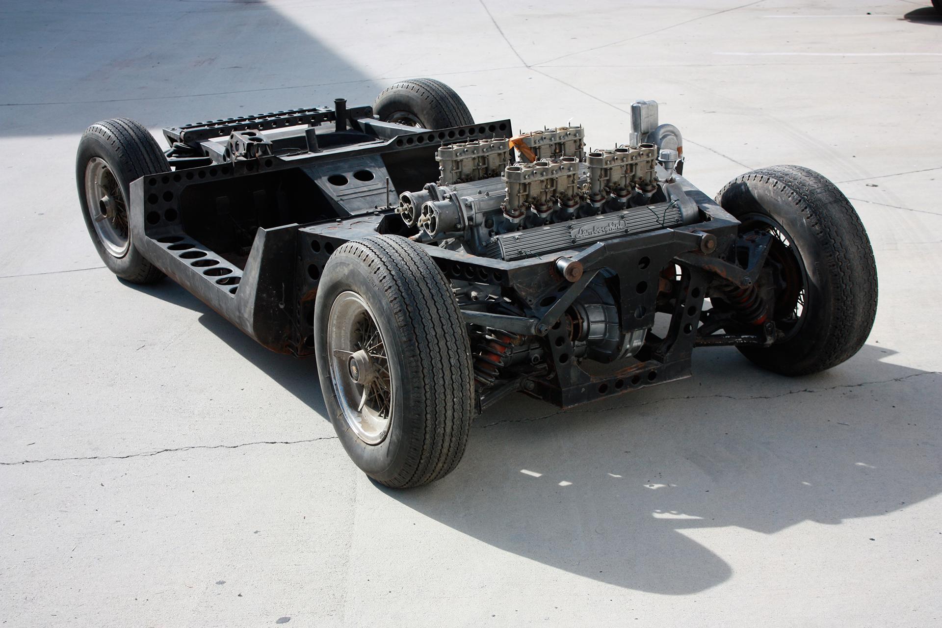 Lamborghini P400 - châssis moteur / chassis engine