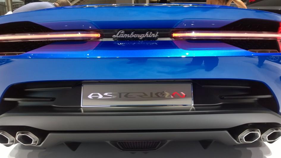 Lamborghini Asterion - Arrière - Paris 2014 - photo DESIGNMOTEUR
