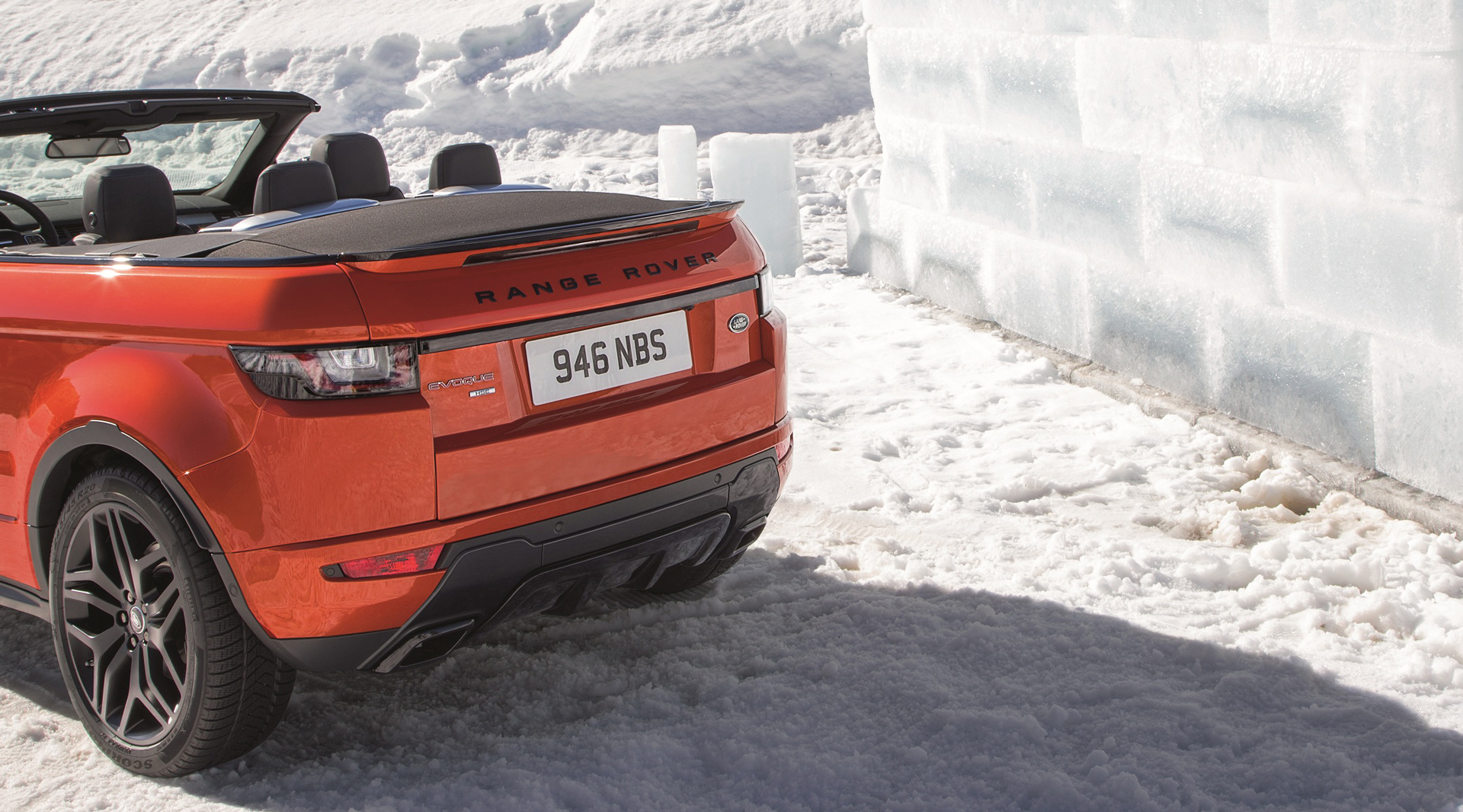 Land Rover Range Rover Evoque Convertible - rear compartment / coffre arrière - close / fermé