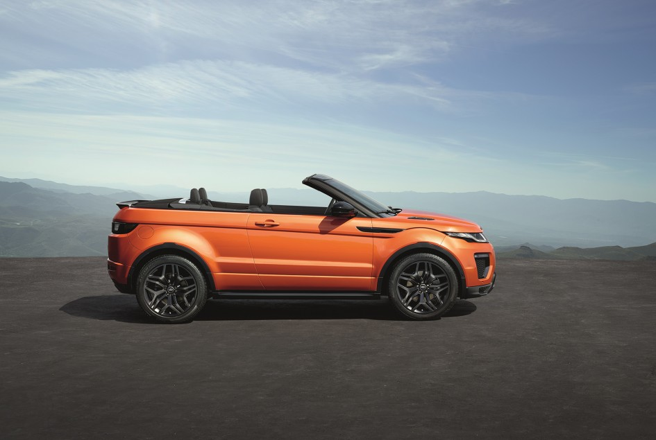 Land Rover Range Rover Evoque Convertible - profil / side-face - top open / toit ouvert
