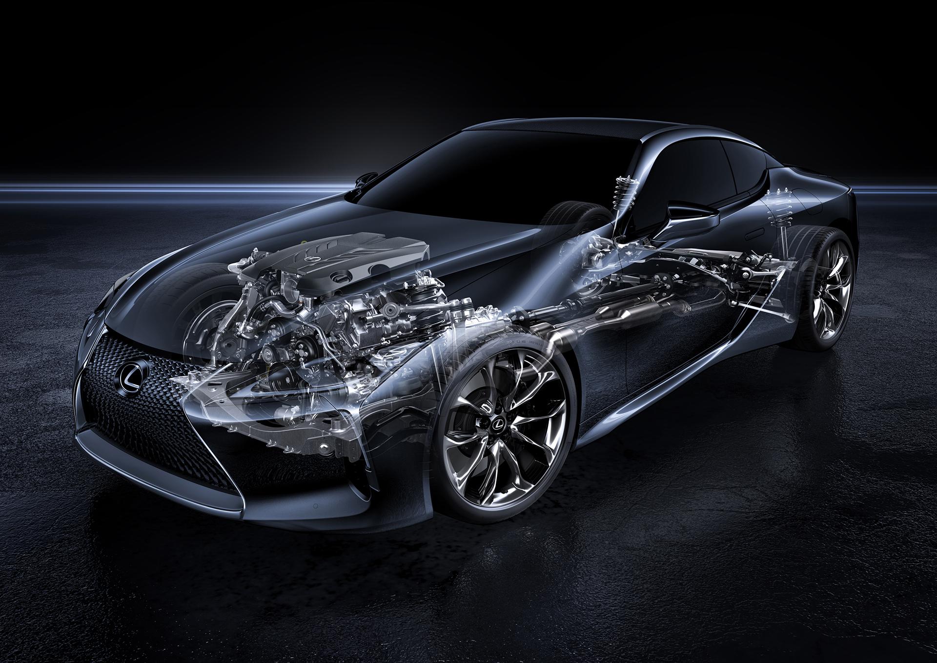 Lexus LC 500 - 2016 - drivetrain