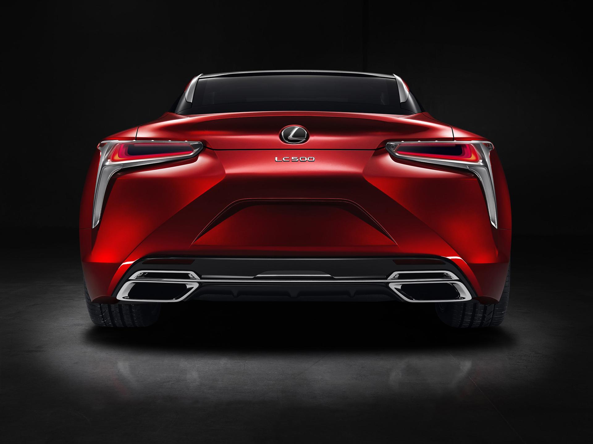 Lexus LC 500 - 2016 - rear / arrière