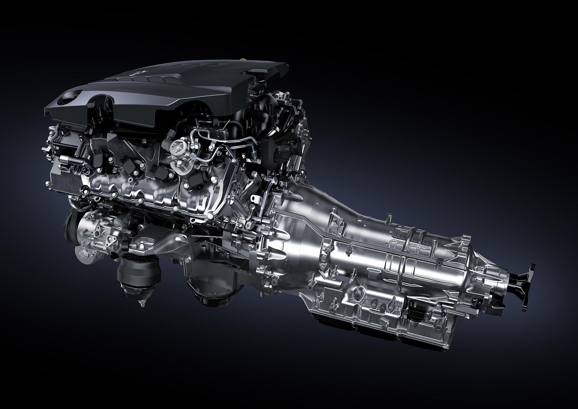 Lexus LC 500 - 2016 - engine gearbox