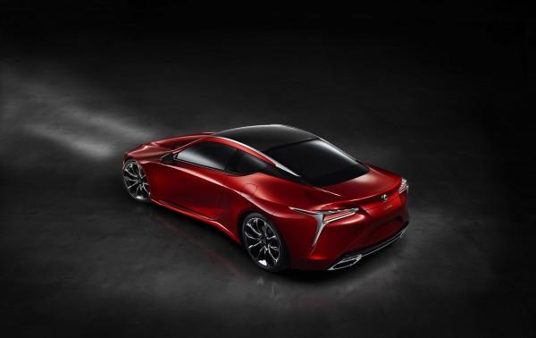 Lexus LC 500 - 2016 - rear side-face / profil arrière