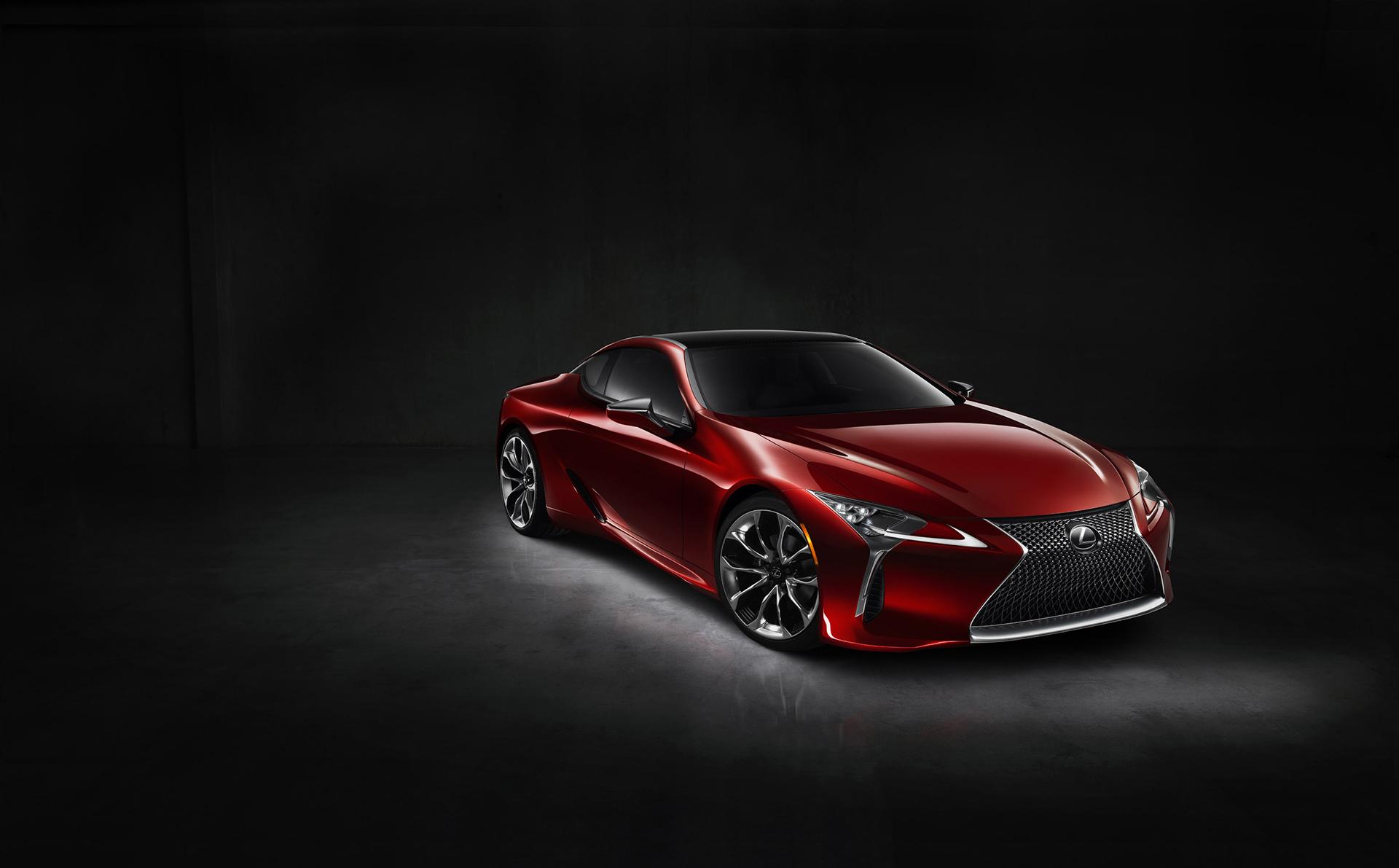 Lexus LC 500 - 2016 - front side-face / profil avant