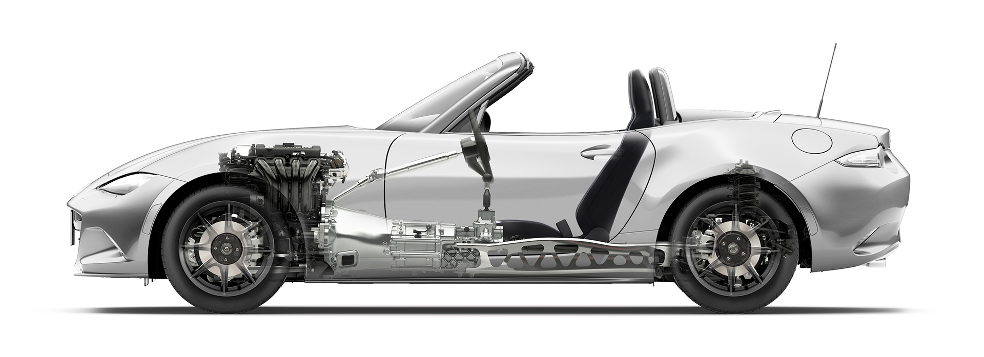 Mazda MX-5 - 2016 - side view powertrain