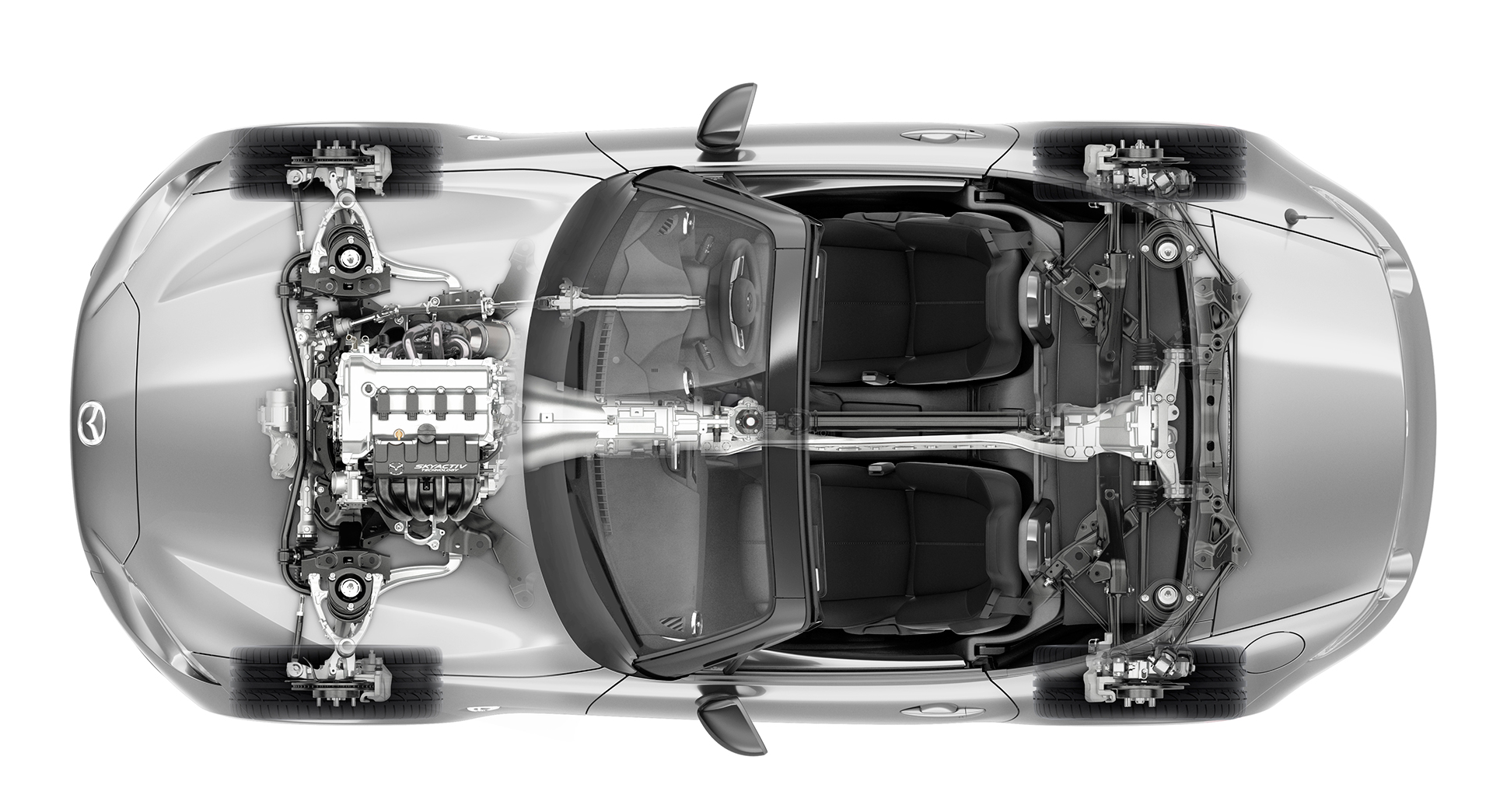 Mazda MX-5 - 2016 - top view powertrain