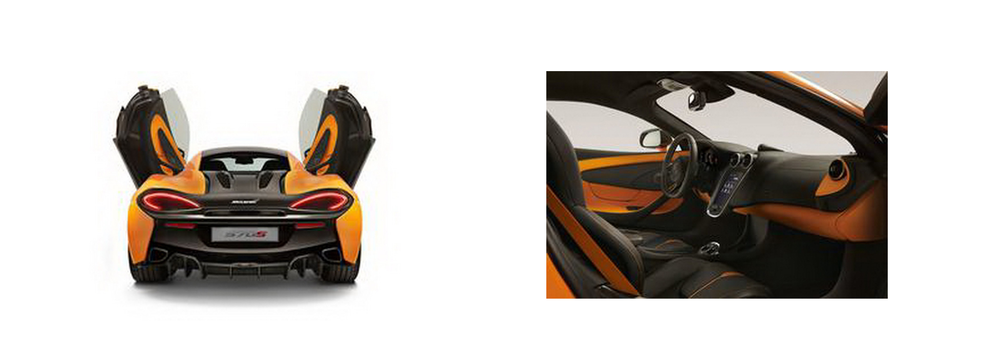 McLaren 570S - pre reveal photo - portes / intérieur - aperçu