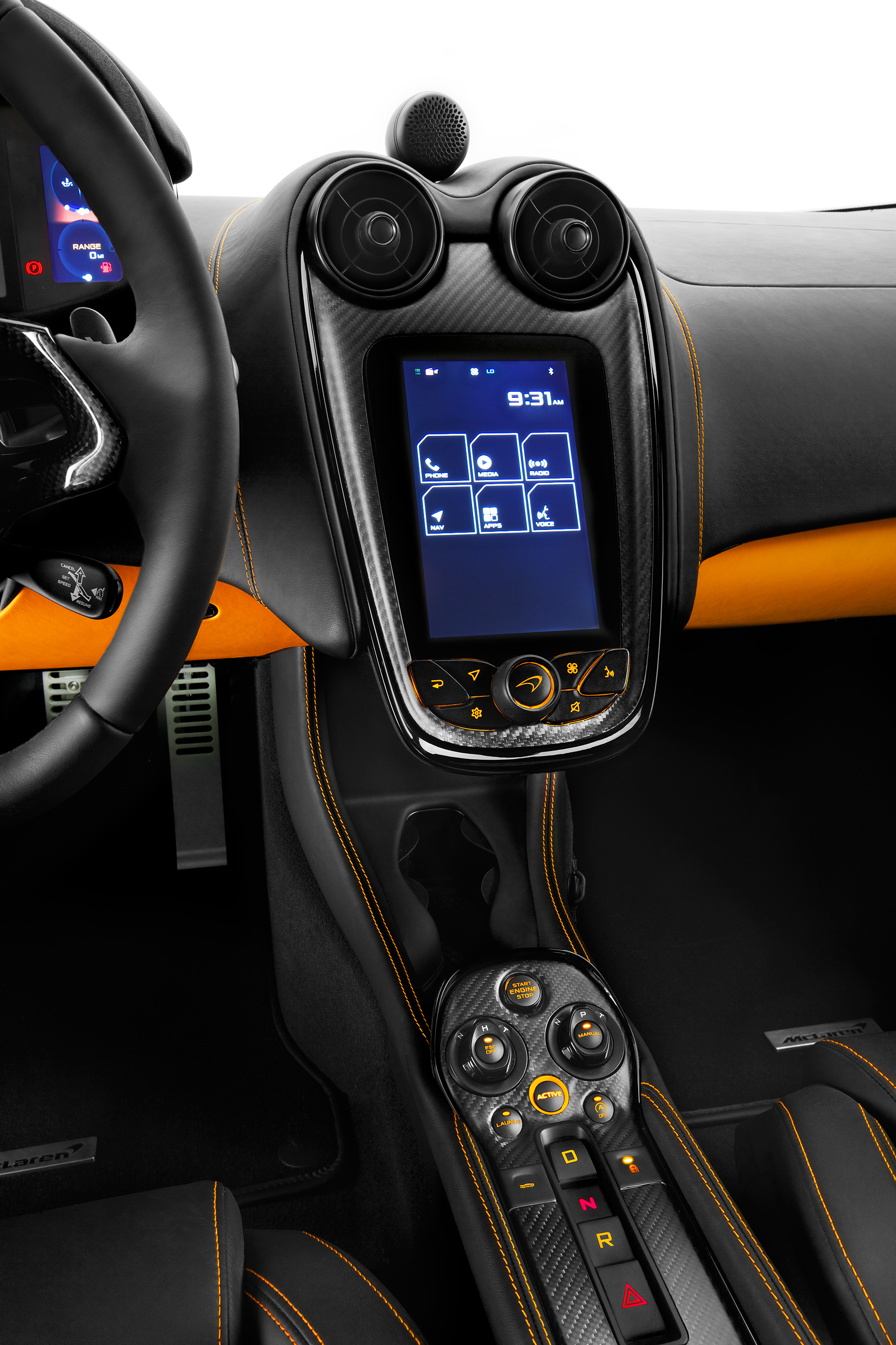 McLaren 570S Coupé - touch screen