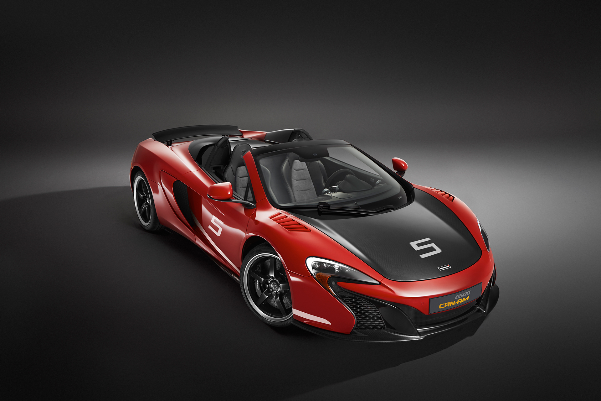 McLaren 650S MSO 50 years Can-Am - front / avant - open top / toit ouvert