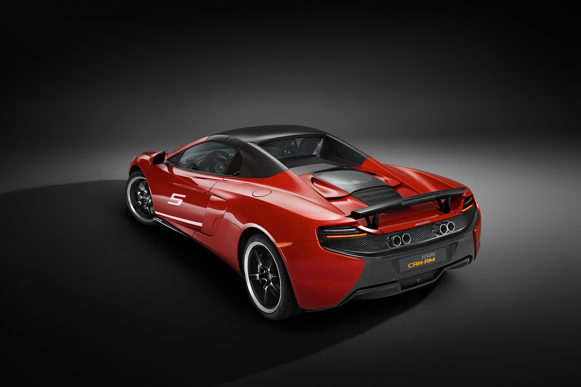 McLaren 650S MSO 50 years Can-Am - rear / arrière - close top / toit fermé
