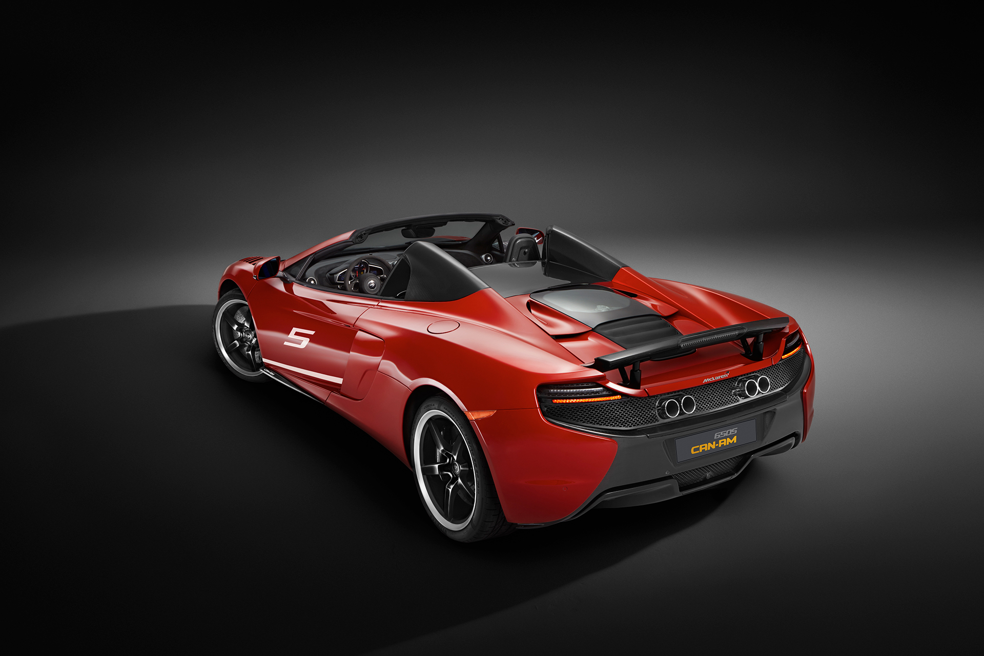 McLaren 650S MSO 50 years Can-Am - rear / arrière - top open / toit ouvert