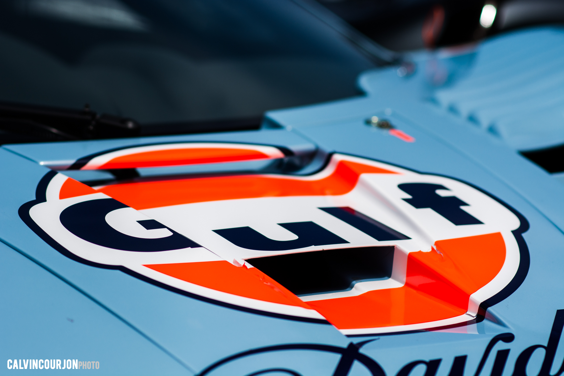 McLaren F1 GTR (1995) - capot avant - Gulf livery - McLaren95 - Le Mans - 2015 - photo Calvin Courjon