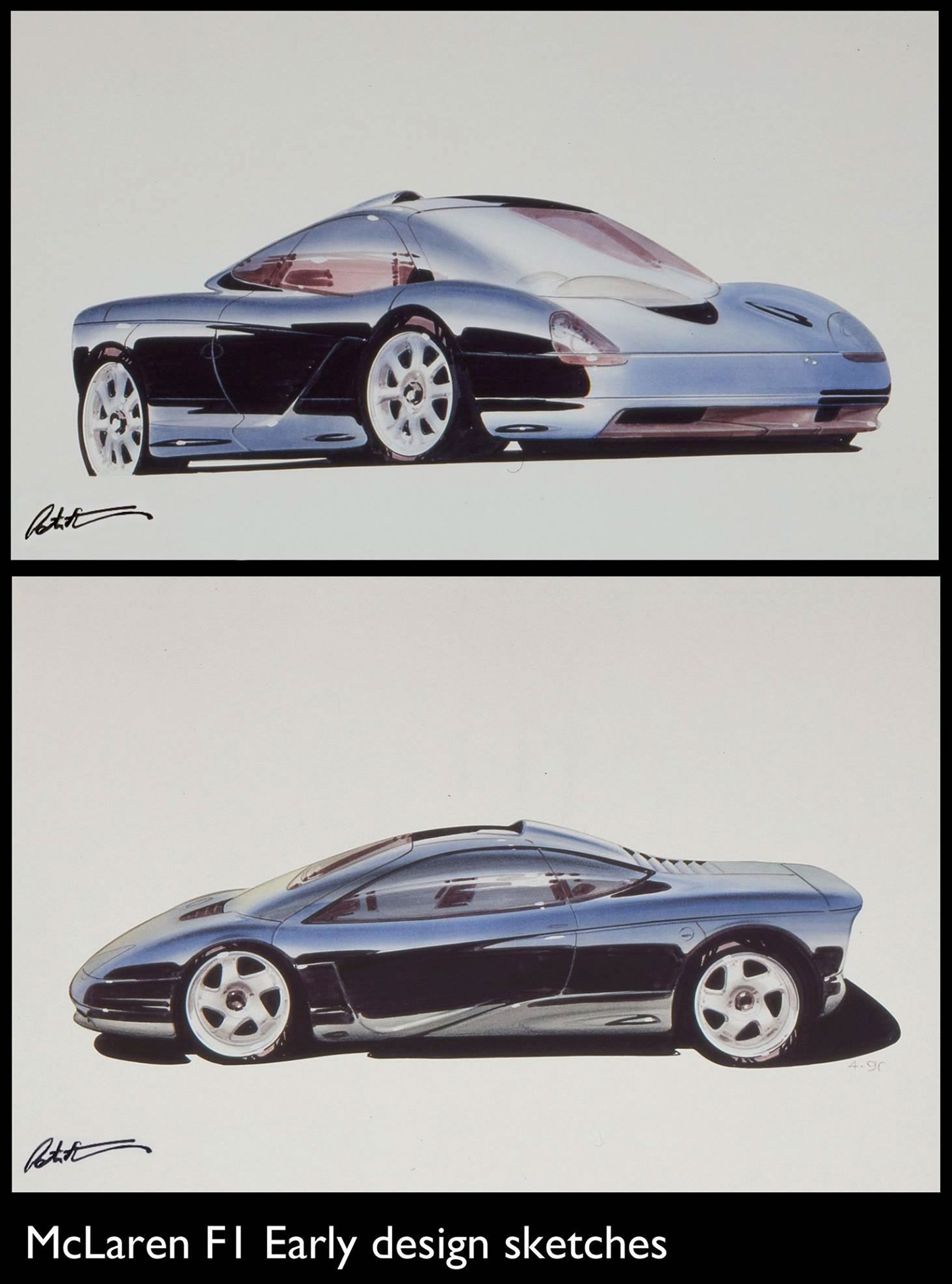 McLaren F1 - design sketch by Peters Stevens