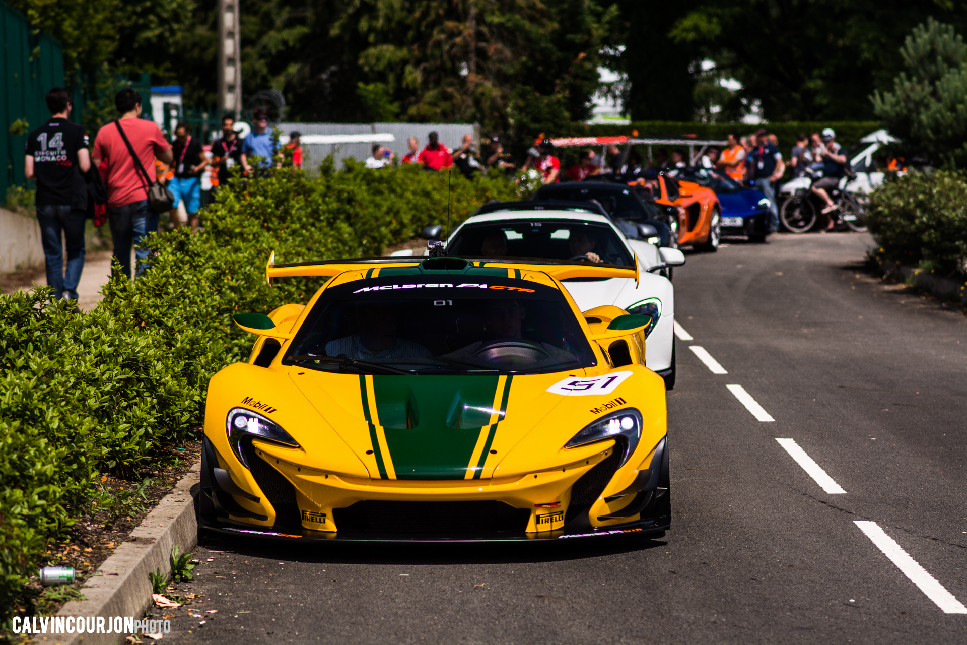 McLaren P1 GTR - Harrods livery - McLaren95 parade at Le Mans - 2015 - photo Calvin Courjon