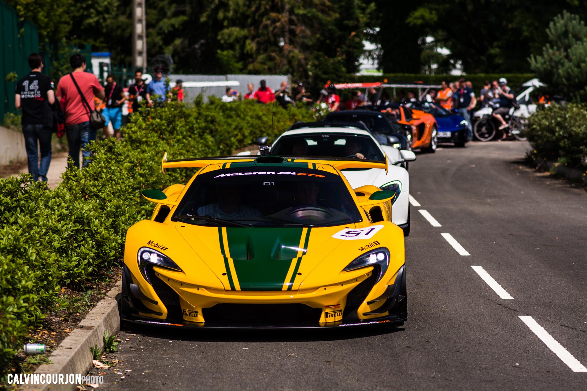 McLaren P1 GTR - Harrods livery - McLaren95 parade at Le Mans - 2015 - photo Calvin Courjon