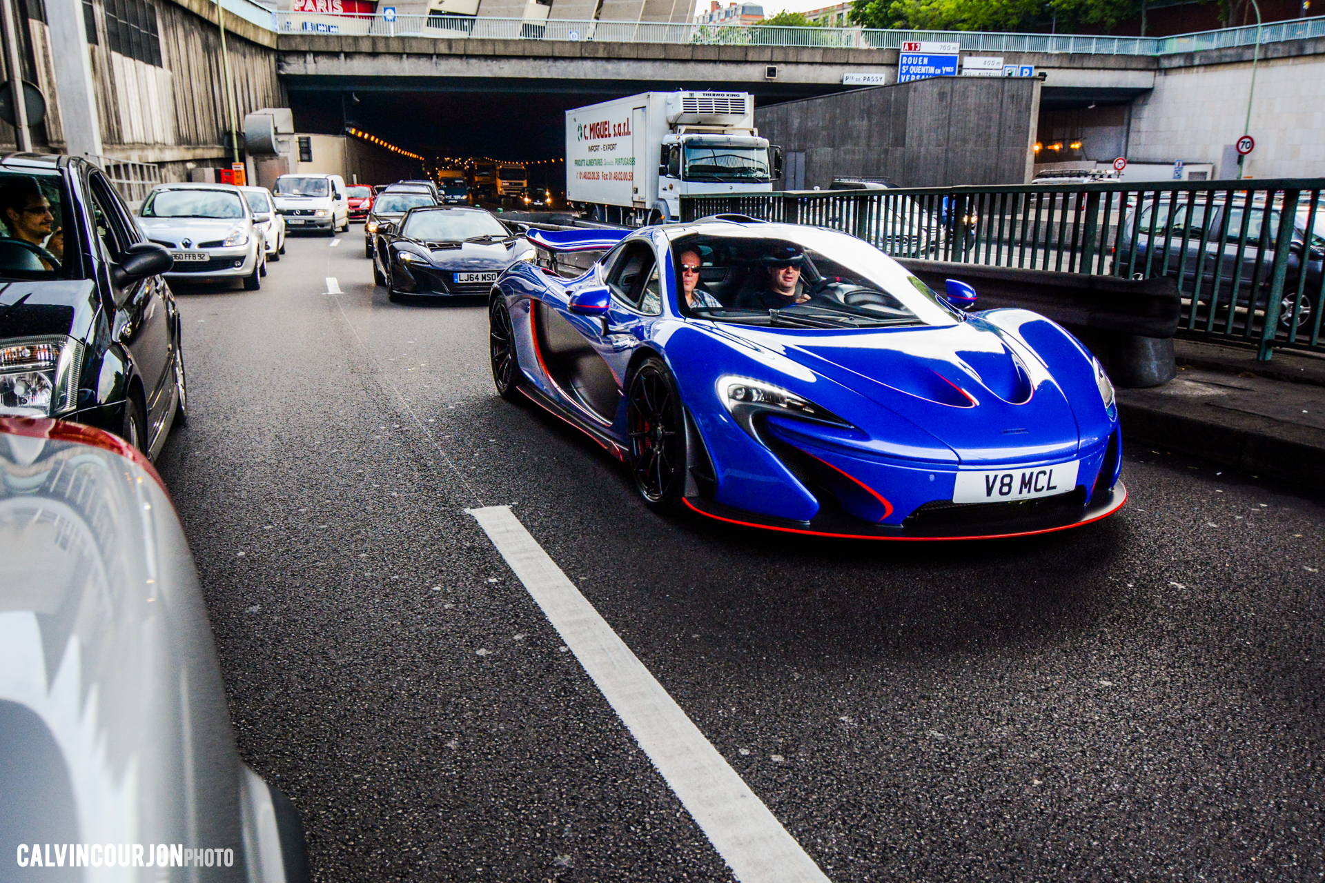 McLaren P1 - Blue by MSO - McLaren95 parade - road to Le Mans - 2015 - photo Calvin Courjon