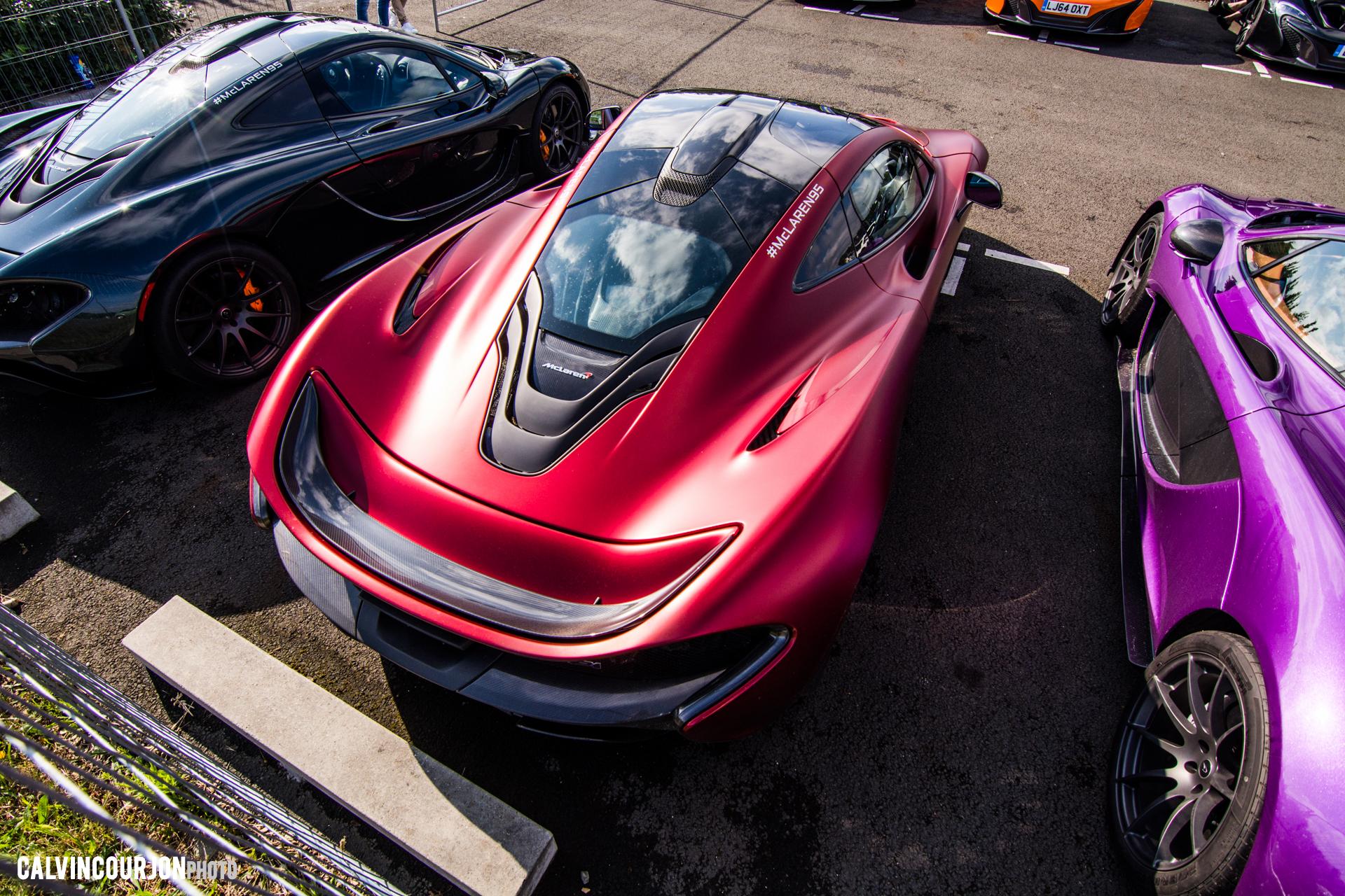 McLaren P1 - Satin Volcano Red by MSO - McLaren95 parade - Le Mans - 2015 - photo Calvin Courjon