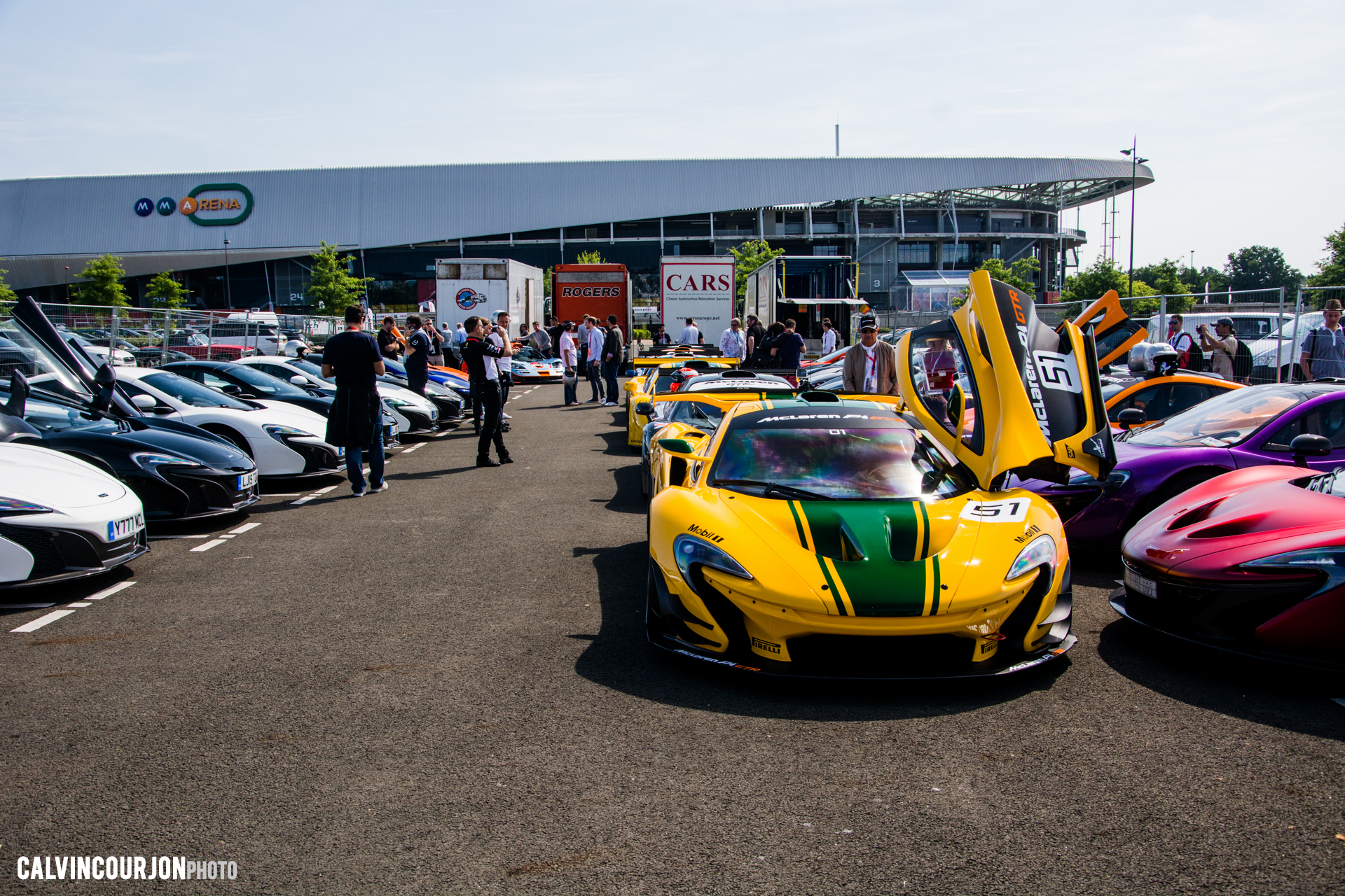 McLaren95 parade at Le Mans - 2015 - photo Calvin Courjon