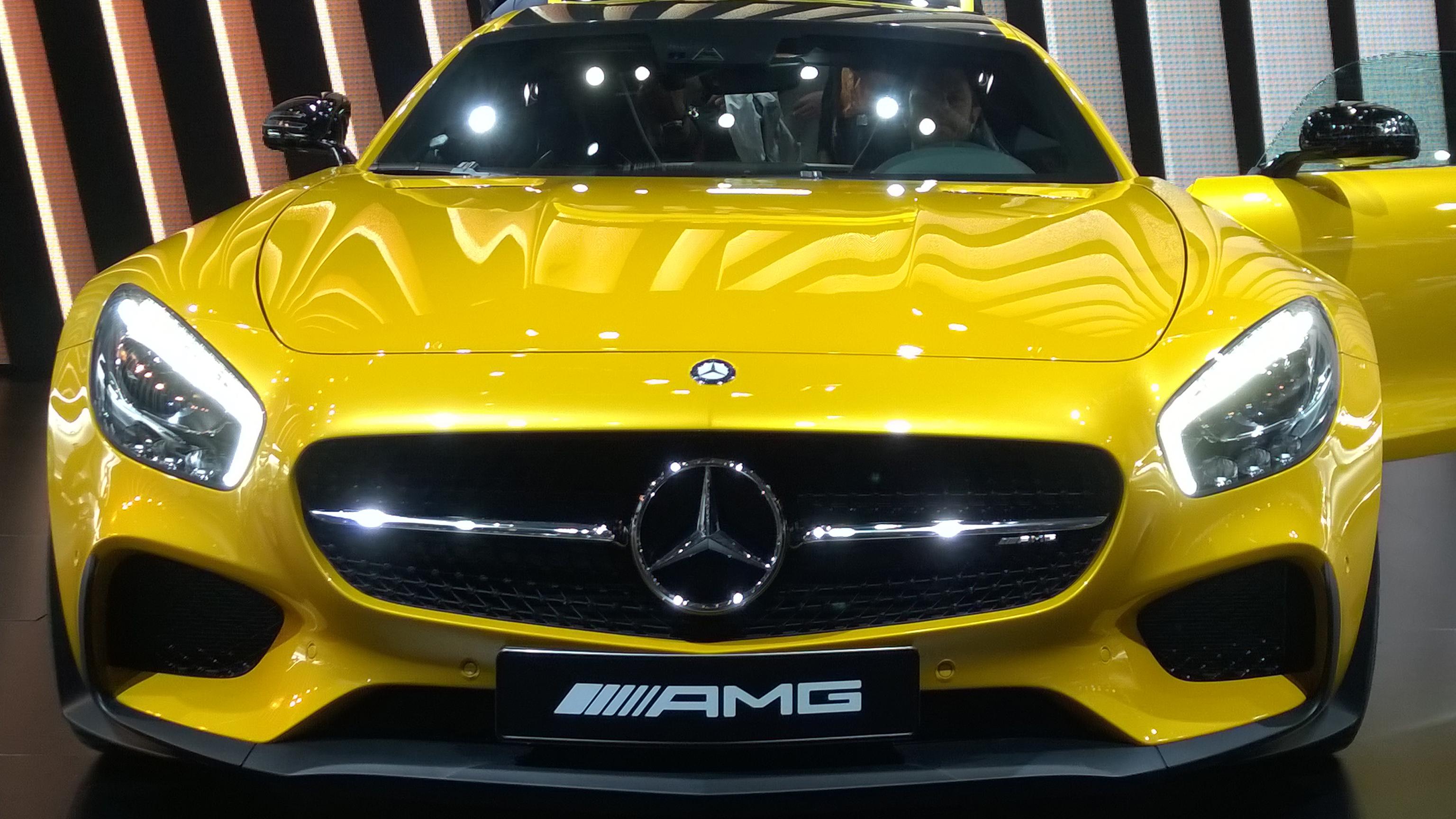 Mercedes-AMG GT - face avant - Paris 2014 - DESIGNMOTEUR