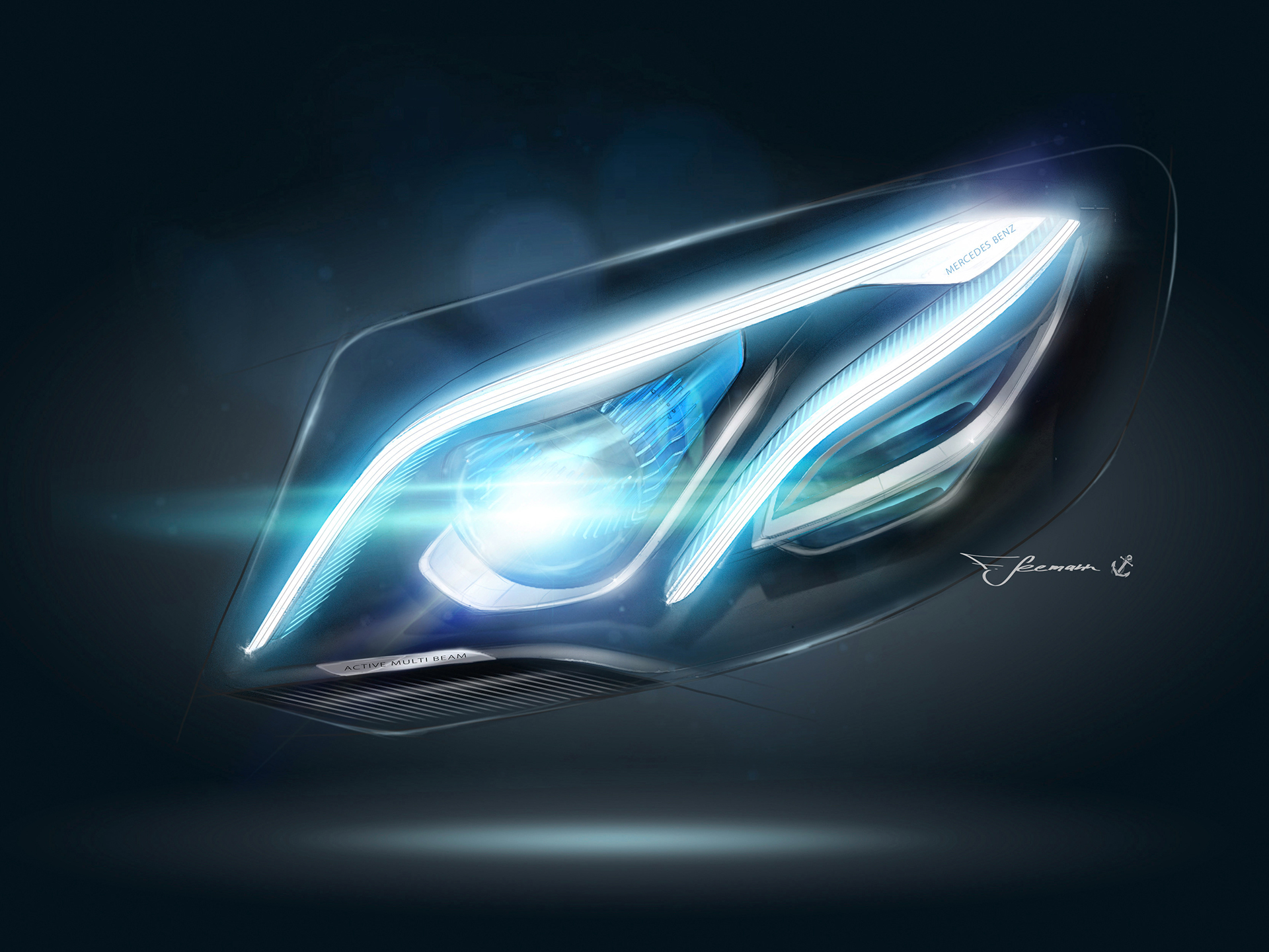 Mercedes-Benz E Class - 2016 - sketch light