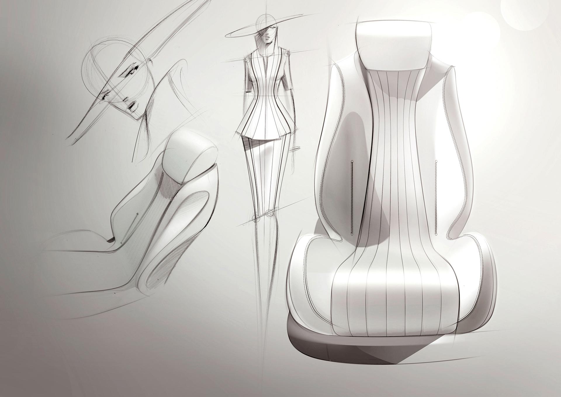 Mercedes-Benz E Class - 2016 - sketch - seat / siège
