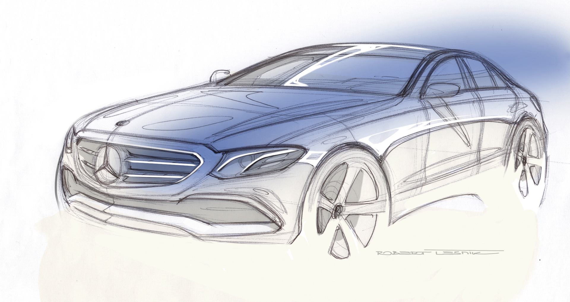 Mercedes-Benz E Class - 2016 - sketch design
