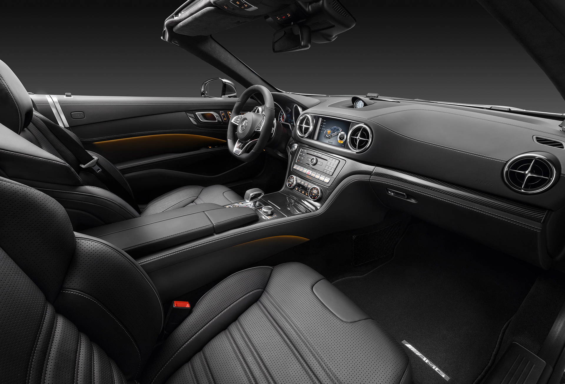 Mercedes benz sl le roadster sport leicht anim by amg for Interieur 65